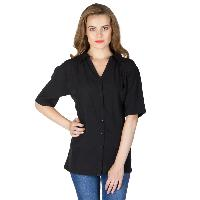 Black Pleated Shirts (6041602BLK-2)