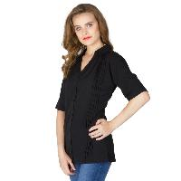Black Pleated Shirts (6041602BLK-3)
