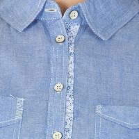 Blue Cotton Short Kurtis (60073BL-6)