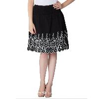 Embroidered Cotton Lycra Short Skirts 02