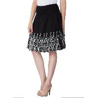 Embroidered Cotton Lycra Short Skirts 03