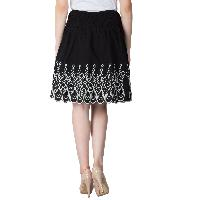 Embroidered Cotton Lycra Short Skirts 05