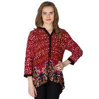 Floral Printed 3/4th Sleeve Tops (NE330MUL-2)