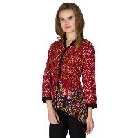 Floral Printed 3/4th Sleeve Tops (NE330MUL-4)