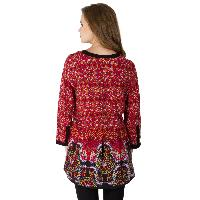 Floral Printed 3/4th Sleeve Tops (NE330MUL-6)