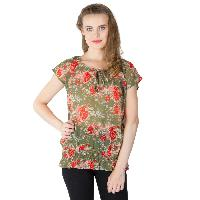 Floral Printed Balloon Tops (RN118231GR-2)