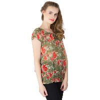 Floral Printed Balloon Tops (RN118231GR-4)