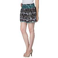 Ladies Ethnic Printed Shorts (EN70513VZ-3)