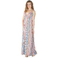 Ladies Polyester Strappy Maxi Gowns (ED10300VC-2)