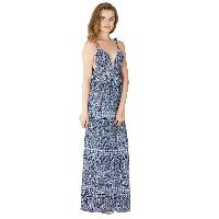 Ladies Polyester Strappy Maxi Gowns (ED10710VC-3)