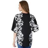 Ladies Printed Black Shrugs (6016500BLK-5)
