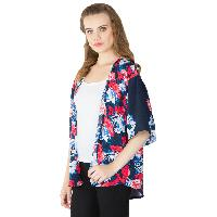 Ladies Printed Blue Shrugs (6016500 BLUE-3)