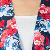 Ladies Printed Blue Shrugs (6016500 BLUE-6)