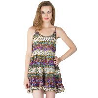 Multi Printed Strappy One Piece Dresses (ED11843VL-2)
