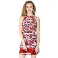 Multi Printed Strappy One Piece Dresses (ED12290VL-2)