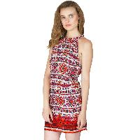 Multi Printed Strappy One Piece Dresses (ED12290VL-3)
