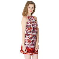 Multi Printed Strappy One Piece Dresses (ED12290VL-4)