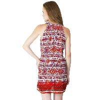 Multi Printed Strappy One Piece Dresses (ED12290VL-5)