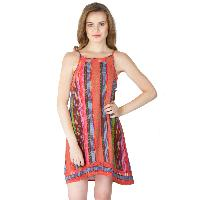 Multi Printed Strappy One Piece Dresses (ED12821VZ-2)
