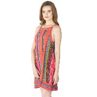 Multi Printed Strappy One Piece Dresses (ED12821VZ-3)