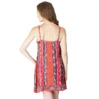 Multi Printed Strappy One Piece Dresses (ED12821VZ-5)