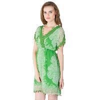 Poly Chiffon Short One Piece Dresses (A2434F-3)