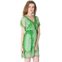 Poly Chiffon Short One Piece Dresses (A2434F-4)
