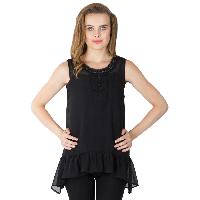 Poly Georgette Frill Tops (AM160503-2)
