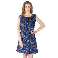 Poly Georgette Short One Piece Dresses (322238D-2)