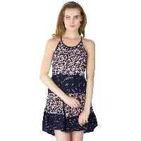 Printed Layer Strappy One Piece Dresses (ED11170VL-2)