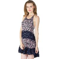 Printed Layer Strappy One Piece Dresses (ED11170VL-3)