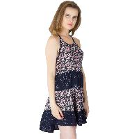 Printed Layer Strappy One Piece Dresses (ED11170VL-4)