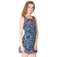 Printed Short One Piece Dresses (ED12459VZ-4)