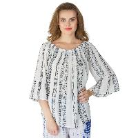 White 3/4th Sleeves Tops (ET52243VL-2)
