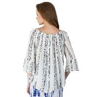 White 3/4th Sleeves Tops (ET52243VL-5)