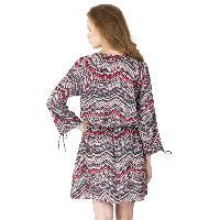 Zig zag Print Short One Piece Dresses (AM160504-5)