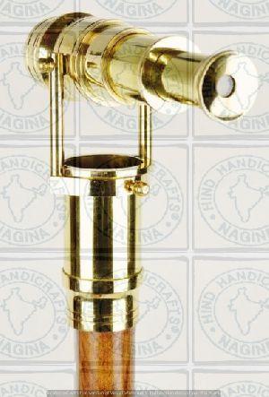 HHC116 Wood Brass Walking Stick