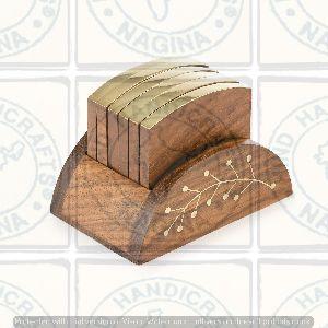 HHC162 Wooden Coaster Set