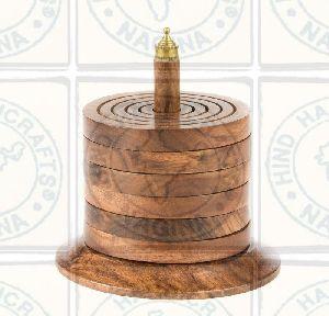 HHC163 Wooden Coaster Set