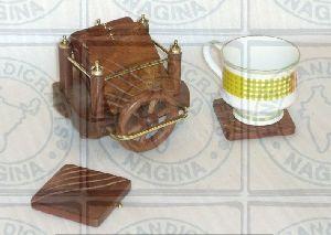HHC164 Wooden Coaster Set