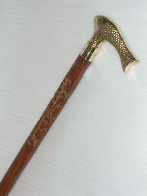 Wood Brass Walking Sticks