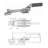 Push Pull Action Clamp Latch Toggle Clamp