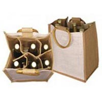 Six Bottle Jute Wine Bags