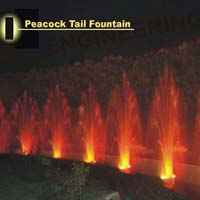 Peacock Tail Fountain