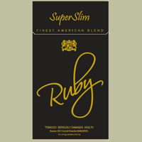 Ruby Black Super Slims Cigarette