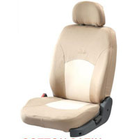 Cotton Satin Beige Car Seat Cover