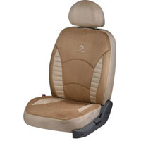 L.Touch Quilt D.Beige Car Seat Cover