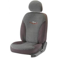 Mars Chex Grey Car Seat Cover
