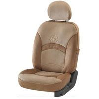 New Splendor Crest Beige Car Seat Cover