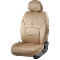 Super Suede Beige Car Seat Cover